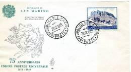 San Marino - Fdc Venetia 1949 - U.P.U. - FDC