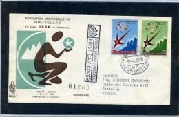 San Marino - Fdc Venetia 1958 - Expo Bruxelles - FDC