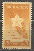 1948 3 Cents Gold Star Mothers Mint Never Hinged - United States