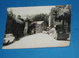 CPSM 30 Gard ALZON Entree Du Village Rare (vieilles Voitures) - Non Classés