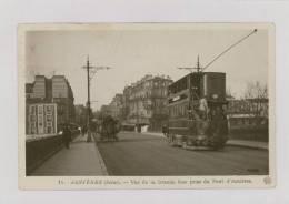 ASNIÈRES : Vue De La Grande Rue Prise Du Pont D'Asnières - Tram à 2 étages, Attelage *f3751 - Asnieres Sur Seine