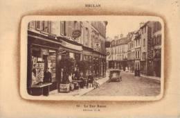 78 MEULAN - LA RUE BASSE ( AUTOMOBILE - CAFE ) - Meulan