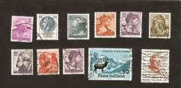 OS.3-8. Italia, LOT - Set Of 11- 1967 Umberto Giordano 20 & 90 Lire - 1961 5 10 15 20 30 50 100 200 L - Stars - 6. 1946-.. Repubblica