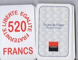 JEUX DE CARTES -  LE JEU DE L'EURO - DU FRANC A L'EURO - SOCIETE GENERALE - JEU DE 32 CARTES - P.E.J.I. - Cartes à Jouer