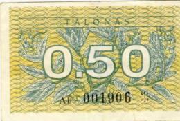 Lietuva Lithuania 0.50 Vertybinis Popierius - Lituanie