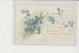 Blumenkarte Mit Goldapplikationen - Other Illustrators