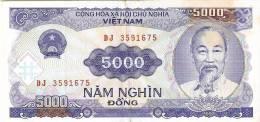 BILLETE DE VIETNAM DE 5000 DONG DEL AÑO 1991  (BANKNOTE) - Vietnam