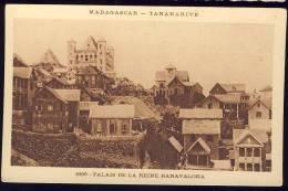 AK MADAGASKAR - TANANARIVE ,1896. PALAIS DE LA REINE RANAVALONA OLD POSTCARD - Madagaskar