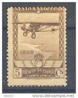 ES448-A398TTA.Espagne.Spain.   Avion.  .SEVILLA-BARCELONA   AEREO.1929.(Ed 448**) Sin Charnela.BONITO - Aviones