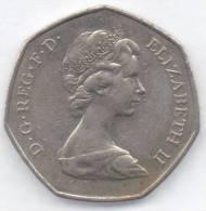 GRAN BRETAGNA 50 PENCE 1973 - 1971-… : Monete Decimali