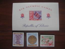 Liberia 1968 MNH     680.82 +BL 41 Imperf - Estate 1968: Messico