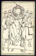 AK UNGARN HONVED GYALOG WELTKRIEG 1916 SIGNIERT KARTE ,SOLDATEN OLD POSTCARD 1916 - Ungarn