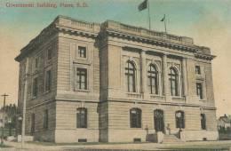 Pierre , South Dakota S.D. , Government Building  Edit Simon . Postally Used From Cuba 1911 - Etats-Unis