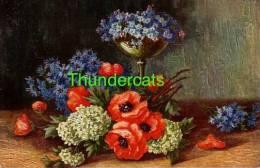CPA ILLUSTRATEUR FLEUR FLEURS ** DEGI H SCHNEIDER ** ARTIST SIGNED POSTCARD FLOWER FLOWERS - Illustrateurs & Photographes