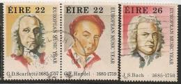 IRELAND - EIRE - 1985 - MUSIC  - Yvert # 568/570 - Pair Se-tenant - USED - Ireland