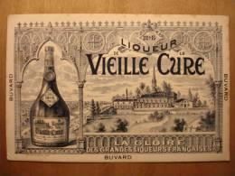 BUVARD ANCIEN - LIQUEUR DE LA VIEILLE CURE - 24X16 - Bouteille Chateau - Liquor & Beer