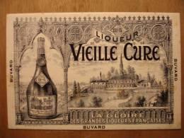 BUVARD ANCIEN - LIQUEUR DE LA VIEILLE CURE - 16cm X 9.5cm - Bouteille Chateau - Liquor & Beer