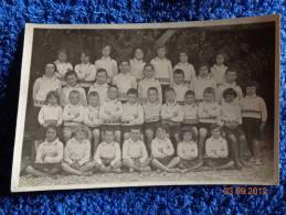 Carte Postale -photo 13.5cmx9cm-enfants- --uniforme Identique -colonie De Vacances A Determiner ?1932 - Personas Anónimos