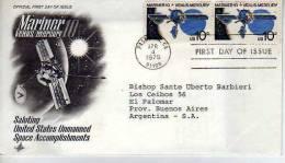 MARINER 10 VENUS/MERCURIO  FDC SOBRE CIRCULADO  USA  OHL - Premiers Jours (FDC)