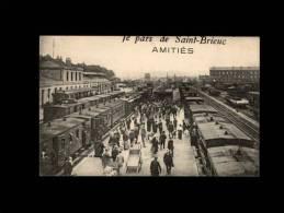 22 - SAINT-BRIEUC - Je Pars De Saint-Brieuc - Amitiés - Gare - Train - Saint-Brieuc
