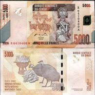 CONGO 5000 5,000 FRANCS 2005/2012 P NEW UNC - Congo