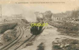 St Nazaire, Les Travaux De La Nouvelle Entrée, Beau Train De Remblai Au 1er Plan - Saint Nazaire