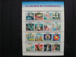 San Marino 1786 KB/sheet **/mnh, 100 Jahre Science-Fiction-Literatur - Blocs-feuillets