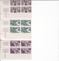 FRANCE TIMBRES NEUFS Coin Daté. (Aérien De 3 Blocs De 4 Timbres Se Tenant Des N°24-25-26. - Ecken (Datum)