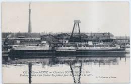 CHALONS Sur SAONE  -  CHANTIERS SCHNEIDER  -  Embarquement D'un Contre-Torpilleur ... - Chalon Sur Saone
