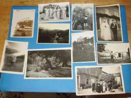 10 Photos Originales 84 Vaucluse ENTRECHAUX Legende Et Date Au Dos - France