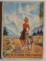 Carte De La Suisse Pour Cyclistes - Velokarte Des Schweiz, 1942 - Kümmerly & Frey - Europe