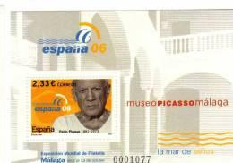 Spain / Philatelic Exhibition In Malaga `Espana 2006` Art - Pablo Picasso - 2001-10 Unused Stamps
