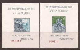 ES1344-L1641TBC.España.Pi N Tor  .Spain.Espagne.VELAZQUEZ  .1961.(Ed 1344/7**),sin Charnela. EXCELENTE - Hojas Conmemorativas