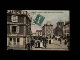 22 - CORLAY - Place De L'Eglise - Sortie De La Confirmation - 5505 - Draperie - France