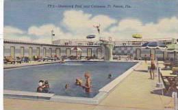 Florida Ft Pierce Shamrock Pool and Cabanas Curteich