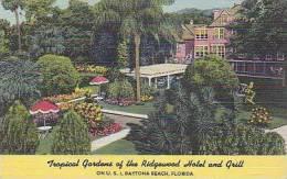 Florida Daytona Beach Tropical Gardens of The Ridgewood Hotel an