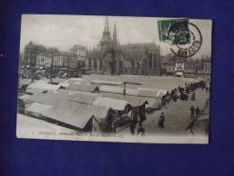 ROUBAIX Grande Place Un Jour De Marché   1908 - Roubaix