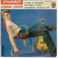 "45 Tours EP - JOHNNY HALLYDAY - PHILIPS 432761 - "" I GOT A WOMAN "" + 3 - Vinyles"