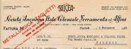 ASMARA SAICFA SOCIETA' ANONIMA ITALO COLONIALE FERRAMENTA E AFFINI 1948 - Italia