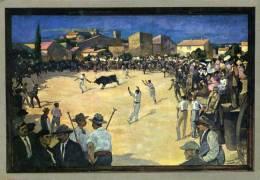 """Musée Du Vieux Nimes - """" Course Libre à Beauvoisin """" - Peinture De Léon Giran-Max - Nîmes"""