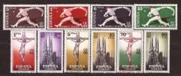 ES1280-1755TRC-MCES2.España.Spain.Espagne.CONGRESO NTERNACIONAL DE FILATELIA.1960.(.Ed 1280/9**)sin Charnela. LUJO - Cristianismo