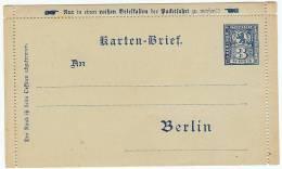 Berlin Privatganzsache Ganzsache Kartenbrief Private Postal Stationery Unused - Private