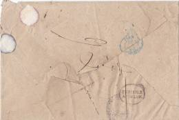 Lettre De Constantine PURIFIEE A TOULON  ( Entaille De Purification )/122 - Marcophilie (Lettres)