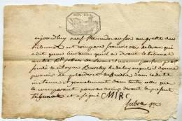 Léran,09,greffe  Tribunal ,pouvoir De Plaider,Mirc,Joffres, Timbre Fiscal, 15 C, Rép Fra. - Documents Historiques