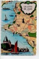 Ref 83 - CPSM Contour De Département Carte Géographique La Cote De Jade Loire Atlantique - Carte Geografiche