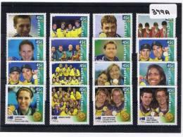 Australia 2000 Gold Medalists 16 Values MUH    379A - Nuevos