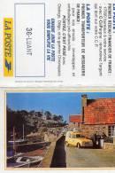 Petit Calendrier Double. Facteur Avec Sa Renault 4. La Poste.  1996 - Calendars