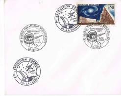 EXPOSITION COSMOS - LA TRINITE- 06-  Sept 1972-  + 15 ° BOURSE PHILATELIQUE MEDITERRANEENE NICE  Sept 1971 -4 CACHETS - Marcophilie (Lettres)
