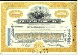 1955  Aktie  Hist. Wertpapier  -  Food Fair Stores , Inc.   -  3 Shares - Hist. Wertpapiere - Nonvaleurs
