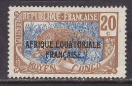 French Middle Congo 30    *  LEOPARD - French Congo (1891-1960)